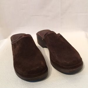 J. Crew Brown Leather Clogs Size 7 Made in Italy